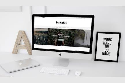 Lavander - Un Estilo de vida WordPress Blog Tema