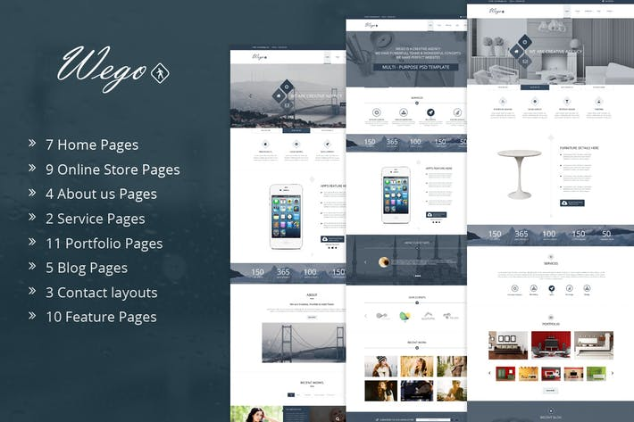 Thumbnail for Wego | Multi-Purpose PSD Template