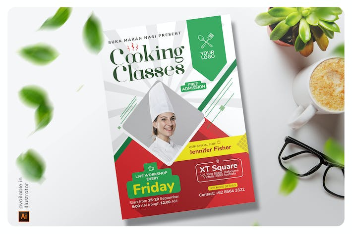 Thumbnail for Cooking Classes Flyer