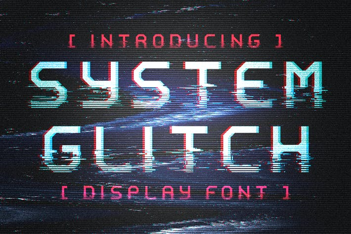 Thumbnail for System Glitch - Display Font