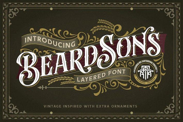 Beardsons - Layered Font