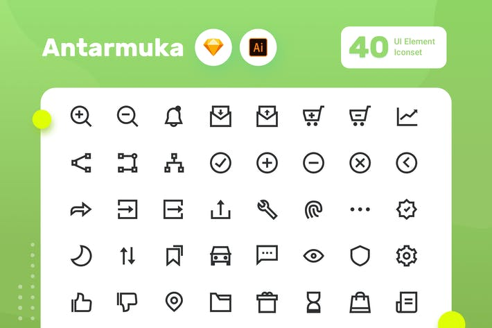 Thumbnail for Antarmuka - UI Element Iconset - One  Color 3