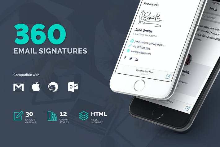 Thumbnail for 360 Professional E-Signature Templates