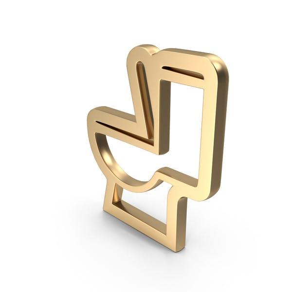 Toilette Logo-Symbol