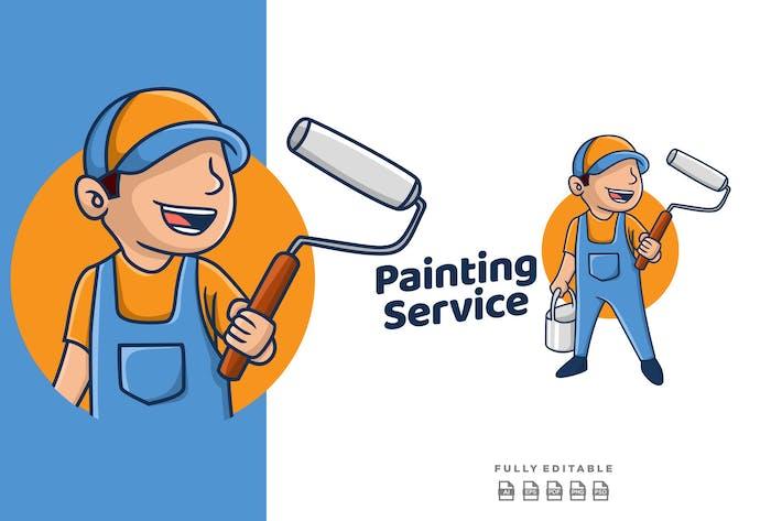 Thumbnail for Painting Service Retro Mascot