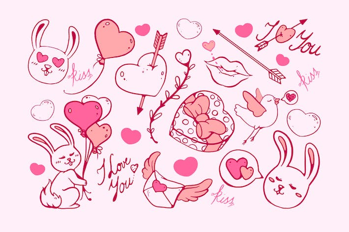 Cover Image For Valentine's Doodles