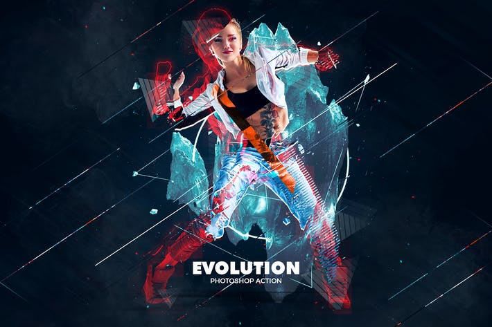 Cover Image For Evolution Photoshop Action