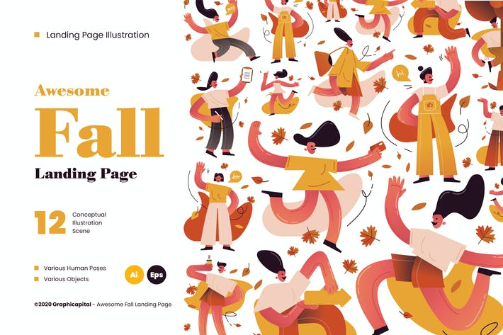 Thumbnail for Awesome Fall Illustration Kit
