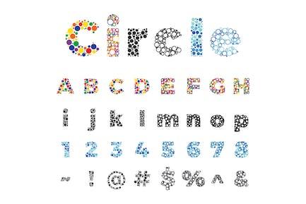 Circle Dot Alphabet
