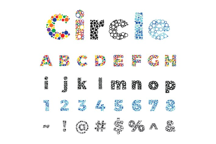 Circle Dot Alphabet By Itefan On Envato Elements