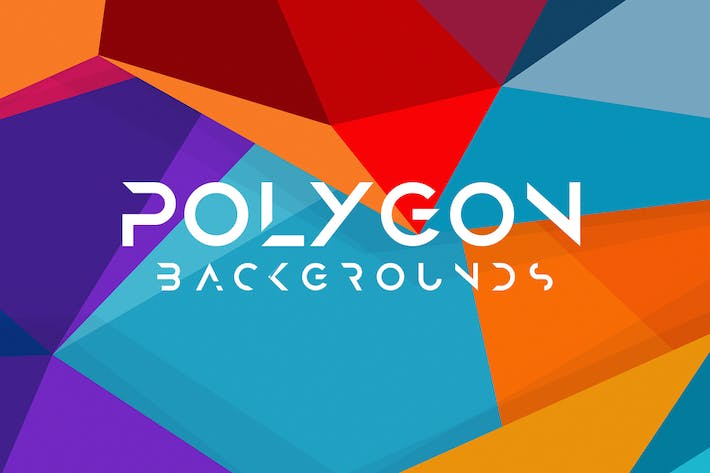 Thumbnail for 10 Different Colored Polygon Backgrounds