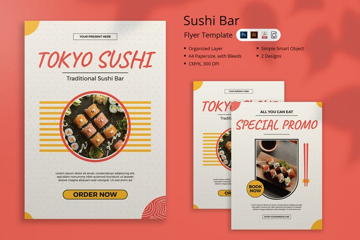 Tokyo Sushi Flyer