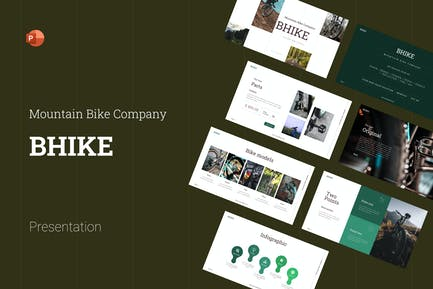 Bhike Modern Mountain Bike PowerPoint Template