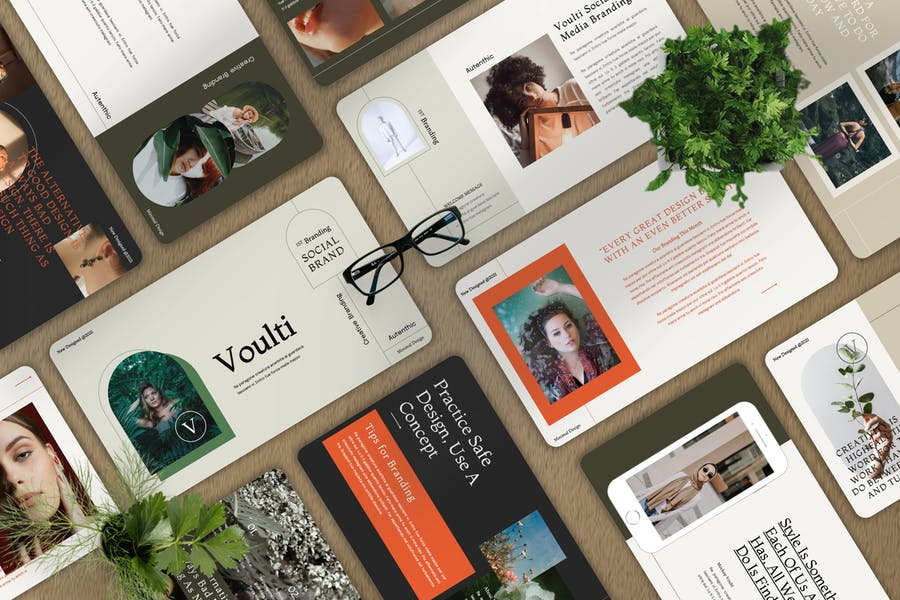 Voulti - Brand Social Media Powerpoint Template