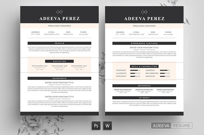 Modern Resume Formats | Modern Resume Template Perez Von Letterhend Auf Envato Elements