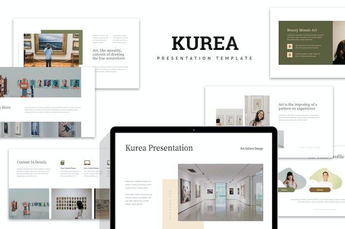 Kurea : Art Exhibition Powerpoint