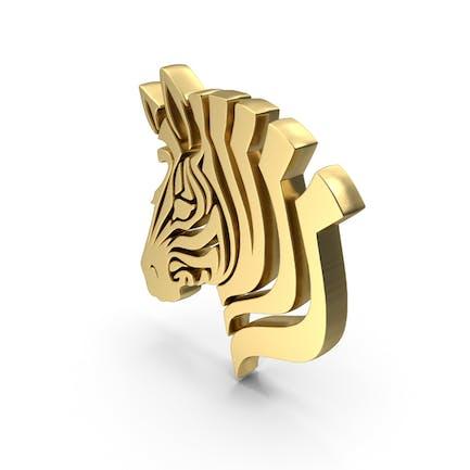 Golden Donkey Face Symbol
