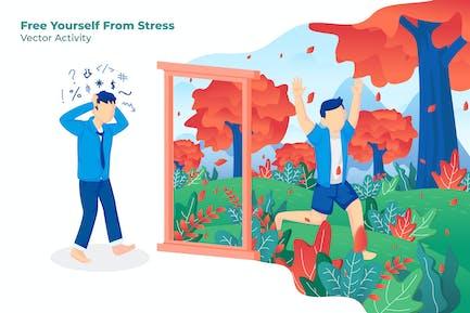 Libere Yourself Stress - Ilustración Vector