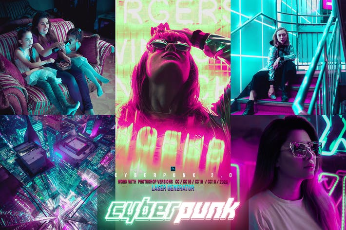 Thumbnail for Cyber Punk City Photoshop