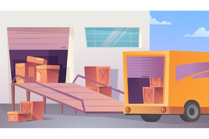 Warehouse - Illustration Background