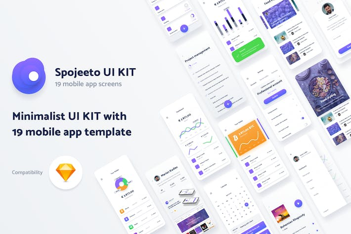 Thumbnail for Vol. 2 - Spojeeto Mobile App UI Kit