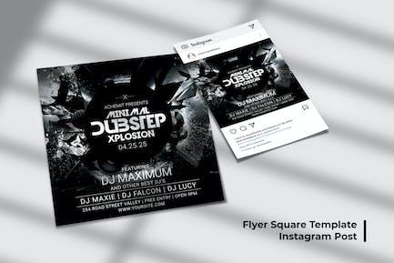 Minimal Dubstep Xplosion Flyer & Social Post
