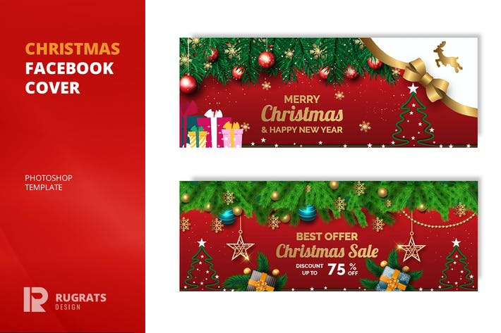 Thumbnail for Christmas r1 Facebook Cover Template