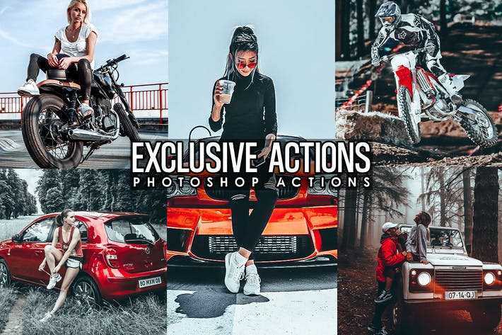 Thumbnail for Exclusive Photoshop Actions
