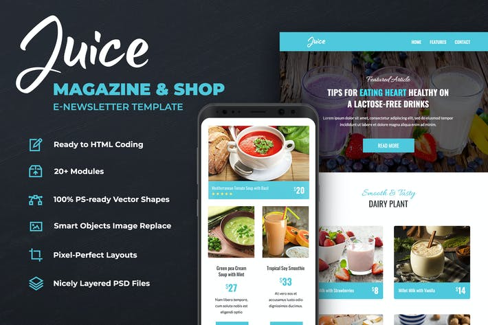 Thumbnail for Juice – Magazine & Shop Email Template