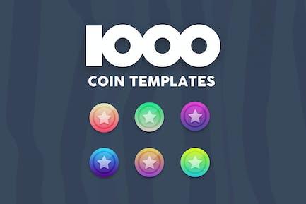 1000 Coin Templates