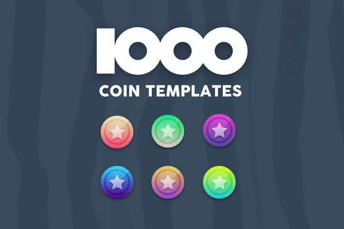 Thumbnail for 1000 Coin Templates