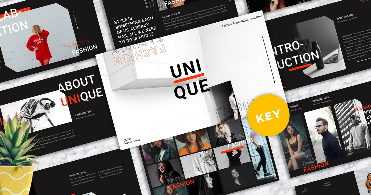 Download Unique - Fashion Keynote Templates by Yumnacreative