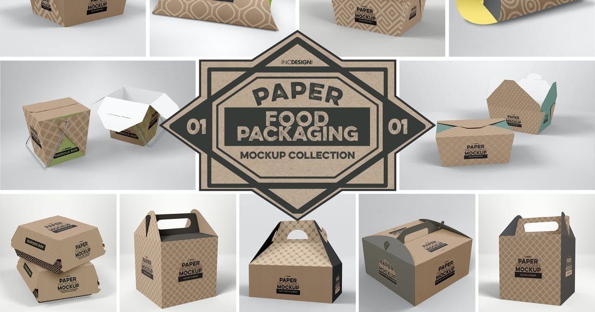 Download Paper Food Packaging Mockups Vol.1 by ina717
