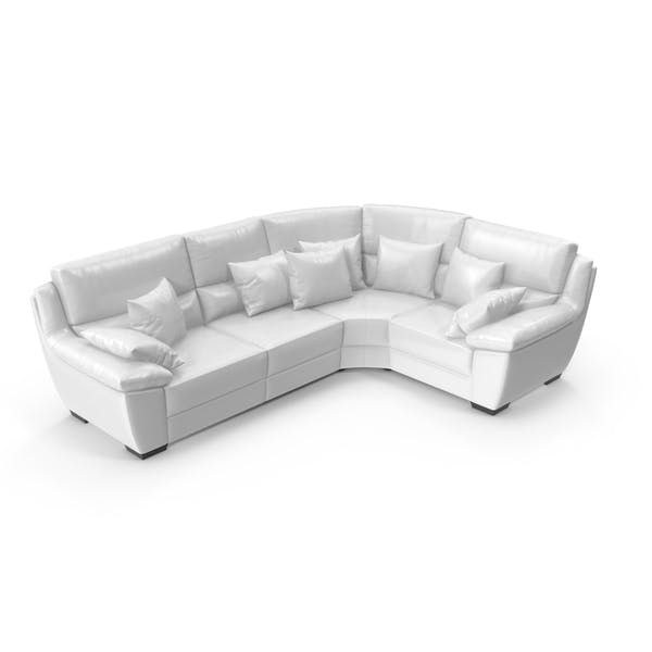 Cover Image for Corner Leather Sofa