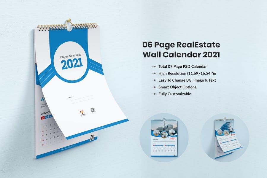 Calendar 2021 - For Real Estate Company