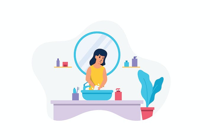 Thumbnail for Washing Hand - Vector Illustration Concept
