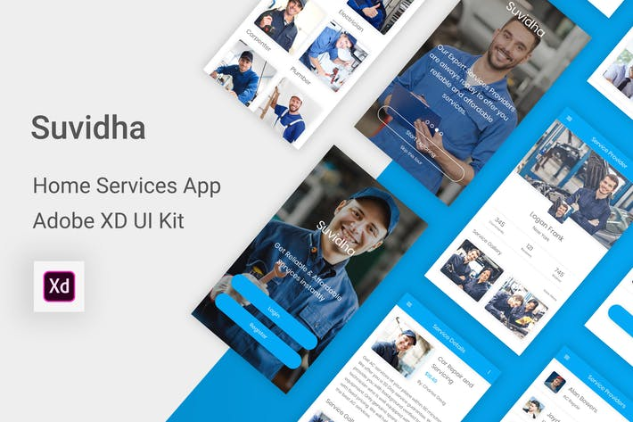 Thumbnail for Suvidha - Home Services UI Kit for Adobe XD