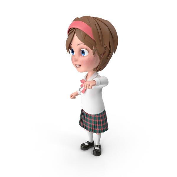 Cartoon Girl Cheering