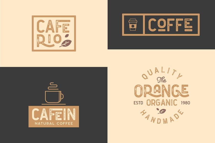 Cafe, Bar, Restaurant Vintage Badges Logo Kit