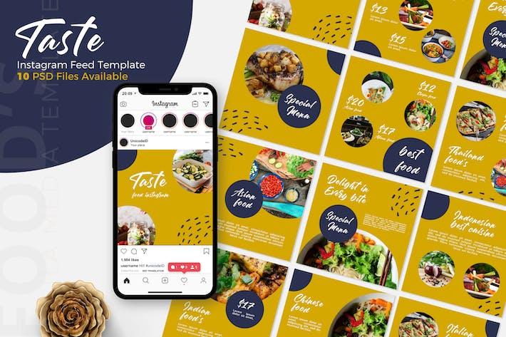 Thumbnail for Taste - Food  Instagram Post