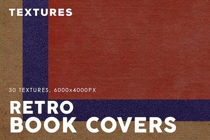 Textures de couverture de livre rétro