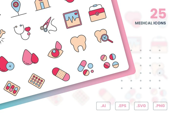 Thumbnail for Medical And Health Icons Set