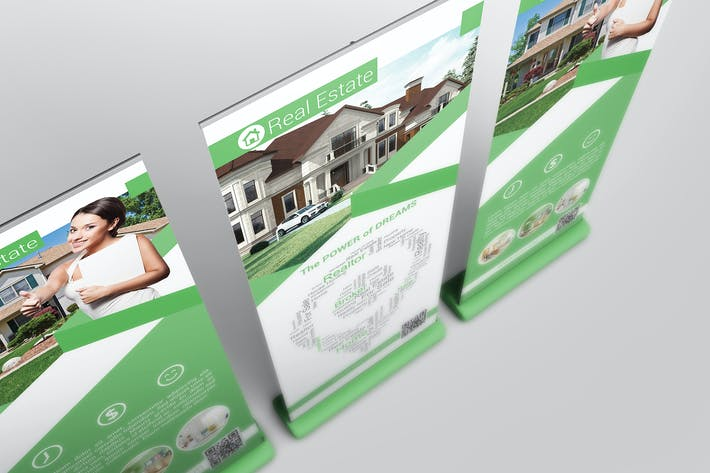 Thumbnail for Roll Up Banner Mock Up