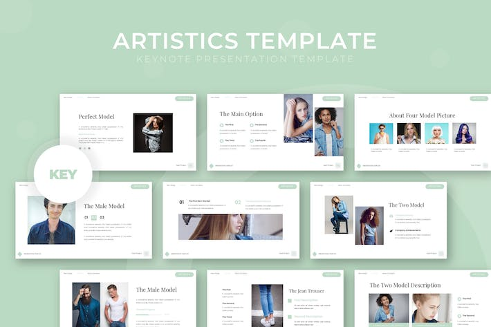 Thumbnail for Artistics - Keynote Template
