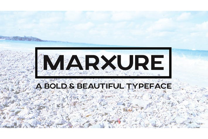Thumbnail for MARXURE - A Bold Headline Typeface + Web Fonts