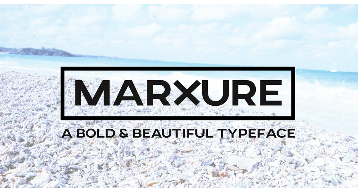 Download MARXURE - A Bold Headline Typeface + Web Fonts by designova