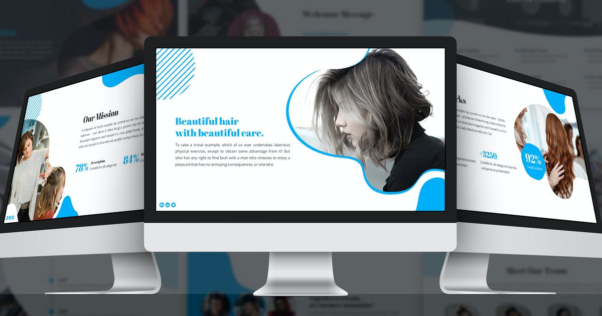 Download Hairdo - Abstract Google Slides Template by SlideFactory