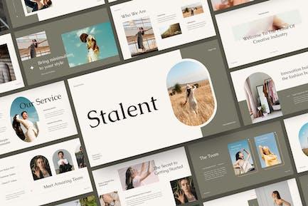 Stalent - минималистский Шаблон слайдов Google