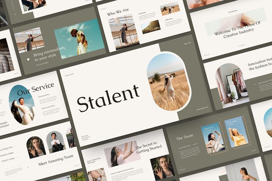 Stalent - Minimalist Google Slide Template