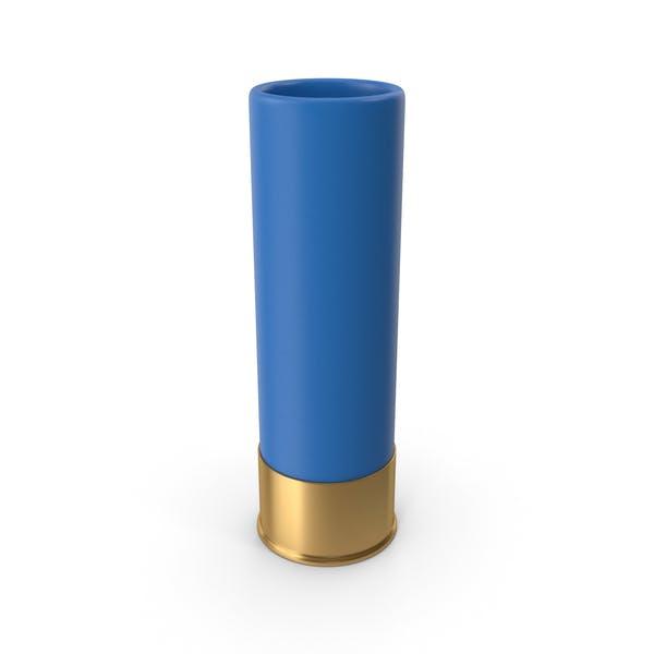 Cartucho de escopeta azul